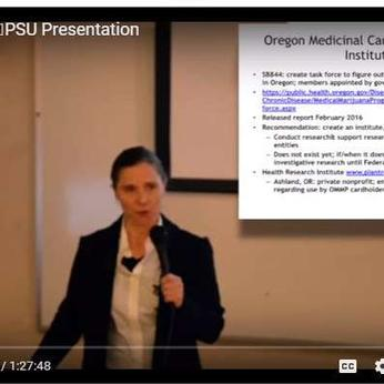 Video of Kate Welch, Pharm D and Skunk Pharmers at PSU
