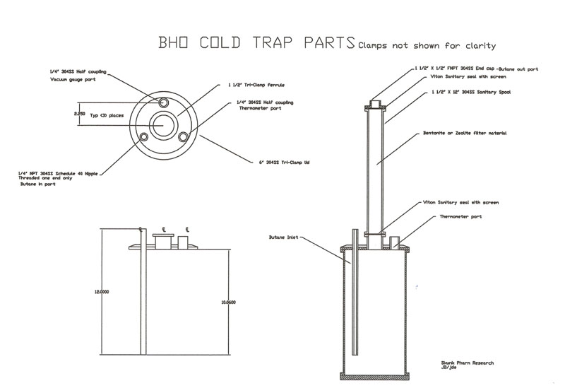 BHO Cold Trap assy detail-1-1