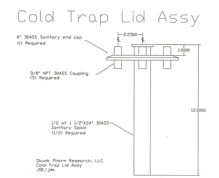 Cold Trap lid assy